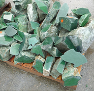 Canadian jade rough stone